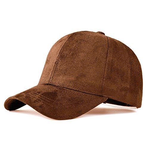 fa43e0c04d8 Snapback Caps Faux Leather Suede Baseball Cap Women Adjustable Casual Low  Profile Dad Hat Men Black