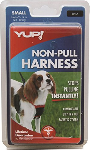 YUP! Nylon Non Pulling Dog Harness, Small, Black