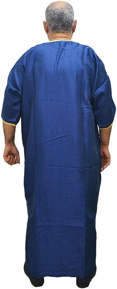 Messen Sie die Breite 69 cm und L/änge 140 cm Horus Artesan/ía de Egipto Djellaba Marrakesch Satin und Baumwolle Tunika Kaftan Modell Araber und Marokkaner
