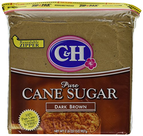 C&H, Cane Sugar, Dark Brown, 2lb Bag (Pack of (Dark Sugar)
