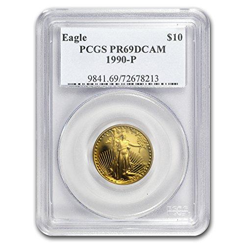 1990 P 1/4 oz Proof Gold American Eagle PR-69 PCGS Gold PR-69 PCGS