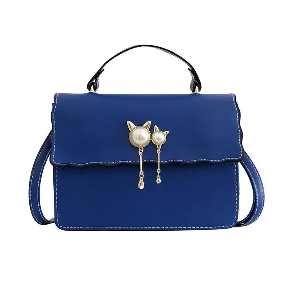 Women Wild Pearl Shoulder Bag Messenger Bag Small Square Bag