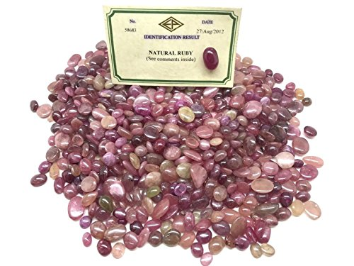 trois_s Africa Red Ruby&Sapphire Fancy Mixed Lot of 100 CTS Gemstone Cabochon Certified