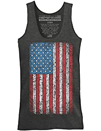 This We'll Defend - Vintage American Flag - Made of USA - Mens 52/48 Premium Tank Top T-Shirt, Charcoal Heather