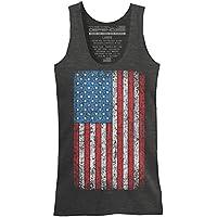 Esta Vamos a defender–Vintage bandera americana–Mens 52/48Premium Tank parte superior playera hecha de EE. UU., Color Gris Oscuro Heather