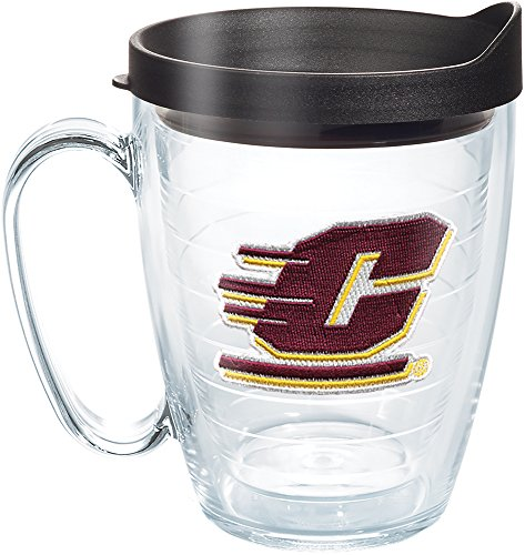 Tervis 1273712 Central Michigan Chippewas Logo Tumbler with Emblem and Black Lid 16oz Mug, ()