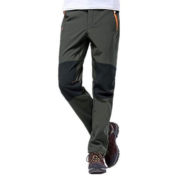 Hibote Homme Femme Softshell Camping Pantalon Douce Polaire Doublé  Coupe-Vent Imperméable Outdoor Sport Pantalon Escalade Randonnée Trekking  Pantalon Hiver ... 2fb56dc99bf