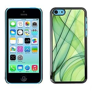 TopCaseStore / la caja del caucho duro de la cubierta de protección de la piel - Green Smoke - Apple iPhone 5C