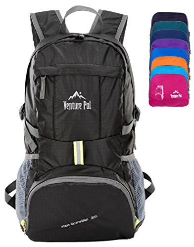 Venture Pal Ultralight Lightweight Packable Foldable Travel Camping Hiking Outdoor Sports Backpack Daypack - For Things To Trip Pack A Camping