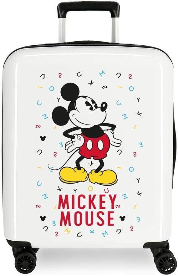 Maleta de cabina Mickey Style letras rígida 55cm