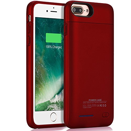 iPhone 7 8 Battery Case, Cofuture 3000mAh Power Bank Magnetic Rechargeable Extended Battery Charging Protective Charger Case with Car Mount and Kickstand, (4.7 inch) Red