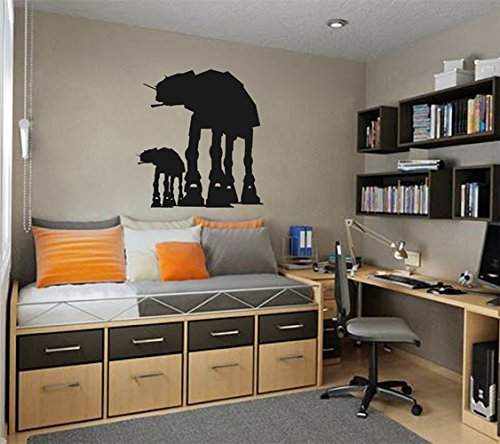 Ik2209 Wall Decal Sticker at-at Walkers Silhouettes Star Wars Children's Room Living (Wall Decal Walker Imperial)