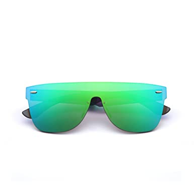 80151ce31df45 2020Ventiventi Oversized Mens Sunglasses Square Lens Green Mirrored Revo  Glasses 62mm Blendes Eyewear for Sandy Beach