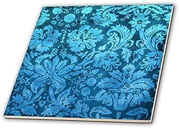 Vintage 4.25 in Blue Bathroom Tile