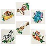72 Adorable ZOO ANIMAL TATTOOS/Zebra/LION/Elephant/MONKEY/Tiger/GIRAFFE/Safari/JUNGLE/Birthday PARTY FAVORS/6 DOZEN