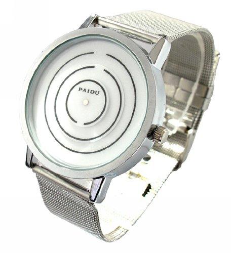 Youyoupifa White Dial Sliver Strap Quartz Wrist Watch