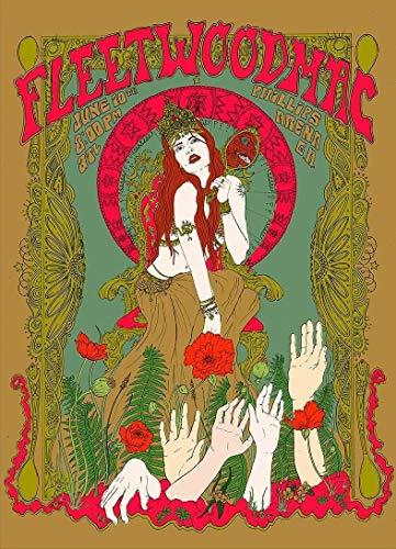 Fleetwood Mac Poster - Rare Poster Stevie Nicks Fleetwood MAC Music 12x18 Burning Desire Poster