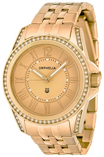 Orphelia Women's Watch Analogue Quartz Luminous Hands Stainless Steel Bracelet Gold And Pink