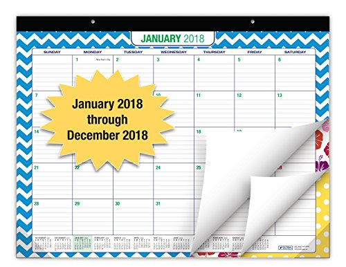 """Price comparison product image Desk Calendar 2018 - 22""""x17"""" - (Runs from NOW through December 31,  2018) (1 Pack)"""
