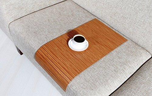 Sofa Tray Table Long Egzotic Bambu Sofa Arm Tray Armrest Tray