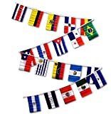 Cheap 12×18 Latin American Country Bunting Flags Banner (20 Flags)