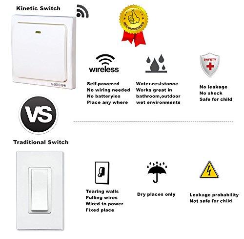 acegoo kinetic light switch  self