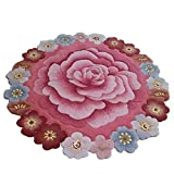 HOMEE Hand made imitation wool round non-slip carpet living room bedroom cloakroom foot pad front desk hall mat