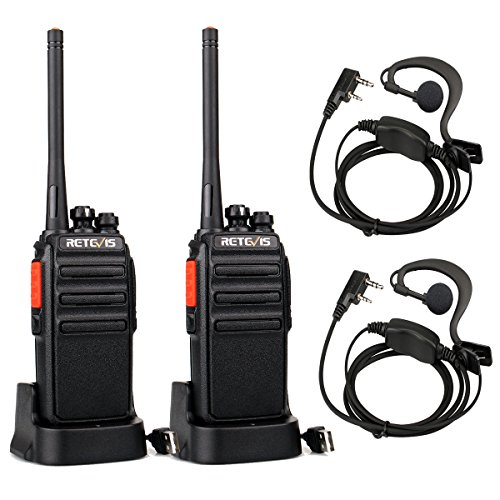 Retevis RT24 Walkie Talkie PMR446 License-free Professional Two Way Radio 16 Channels Walkie Talkies Scan TOT with USB…