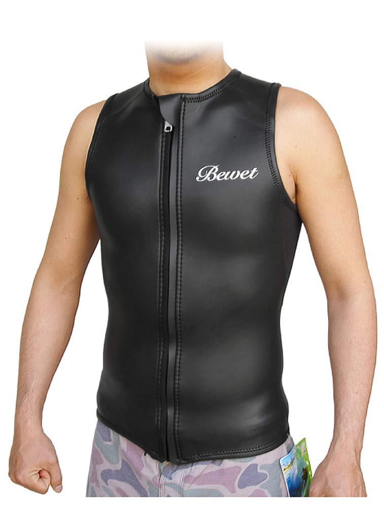 BEWET ビーウエット ウエットスーツ メンズサイズ ACOUSTIC アコースティック タッパー ベスト ラバー フロントジップ B07PQPNBHZ L-b|-  L-b