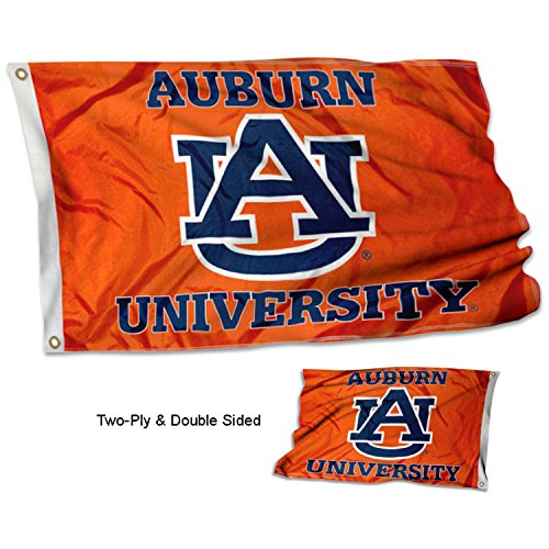 - College Flags and Banners Co. Auburn Tigers Orange Double Sided Flag