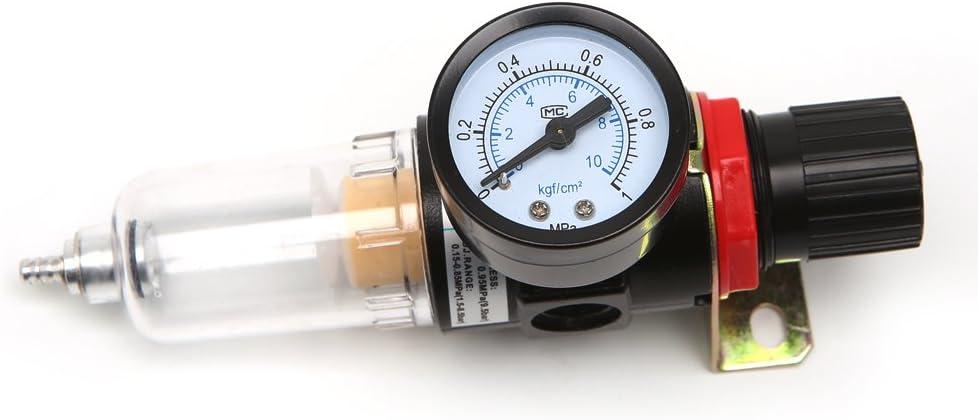 VIccoo Calibrador de Humedad del Agua del Filtro de la Trampa de Agua del regulador de presi/ón del compresor del aer/ógrafo AFR-2000