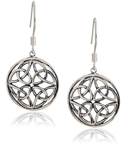 Celtic-Knot Round Drop Earrings (Medium) | SPUNKYsoul Collection