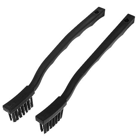 2 Pcs 30mm x 9mm Negro Cerda Cepillo de Diente Forma ESD Anti-Estático Cepillo