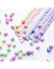 Origami Stars Paper, 420 Sheets 10 Colors Origami Star Papers which can Glowing in The Dark and use for Decoration Folding Origami Paper Strip