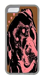 iPhone 5C Case, iPhone 5C Cases -rottweiler TPU Silicone Rubber Case Cover for iPhone 5C Transparent