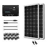 200W Mono Starter Kit: 2pc 100W Solar Panels+20′ Adapter Kit+PWM 30A Charge Controller+2 Sets Z Brackets+MC4 Branch Connectors Pair Picture