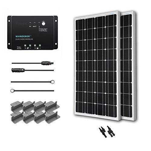 Renogy 200 Watt 12 Volt Monocrystalline Home Solar System Starter Kit
