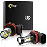 Cougar Motor H11 H8 CREE LED Fog Light/DRL Bulbs - 30W 5000K Bright White (Pack of two bulbs)