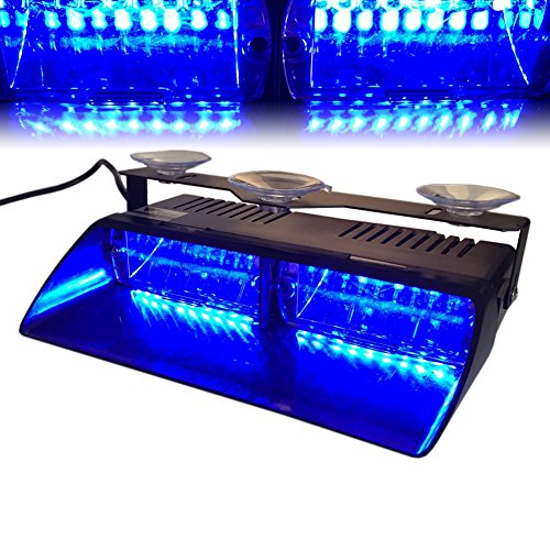 UPC 520024523106, T Tocas 16 LED High Intensity LED Law Enforcement Emergency Hazard Warning Strobe Lights for Vehicle Interior Roof / Dash / Windshield with Suction Cups