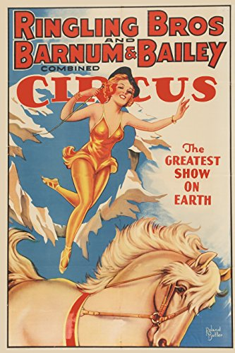 (XXL Poster Circus Poster (Ringling Brothers And Barnum & Bailey, Early 1940s 24x36)