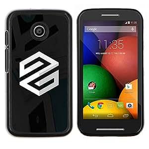 LECELL--Funda protectora / Cubierta / Piel For Motorola Moto E -- Super Silver S --