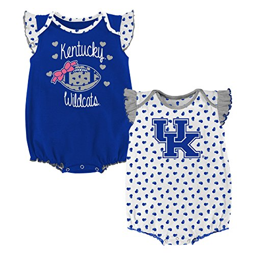 Kentucky Wildcats Heart - NCAA Kentucky Wildcats Newborn & Infant Heart Fan 2pc Bodysuit Set, Multi, 24 Months