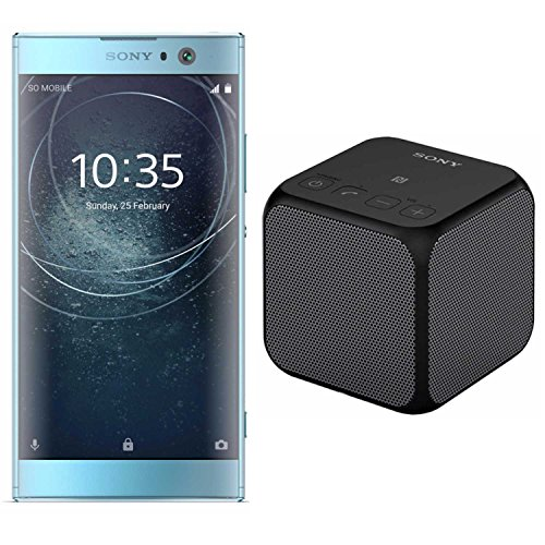 Sony Xperia XA2 Unlocked Smartphone (32GB/Blue) SRS-X11 Portable Wireless Bluetooth Speaker (Black)