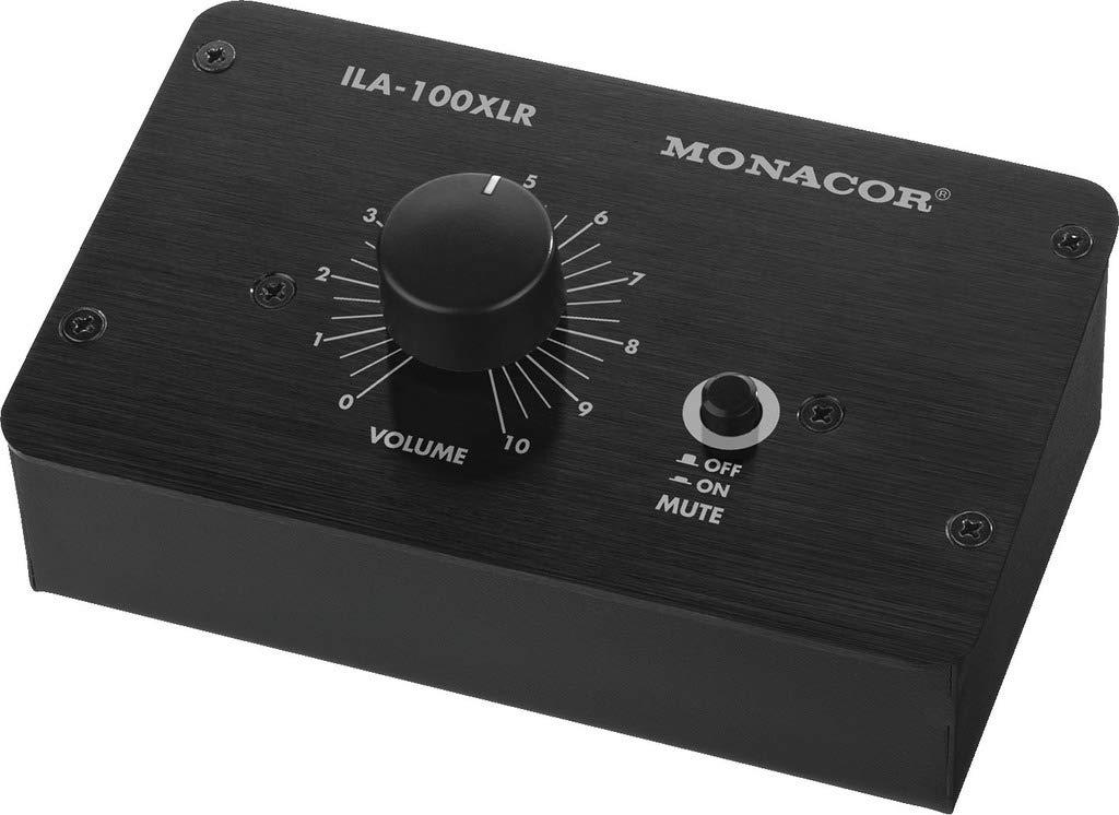 MONACOR ILA-100XLR Passiver Stereo-Pegelregler (XLR-Version) schwarz MONACOR INTERNATIONAL 21.2910