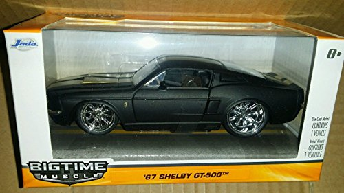 BIG TIME MUSCLE 1967 SHELBY GT-500 BLACK WITH GOLD STRIPES 1:32 Scale Premium Collectable Die-Cast Vehicle car ()
