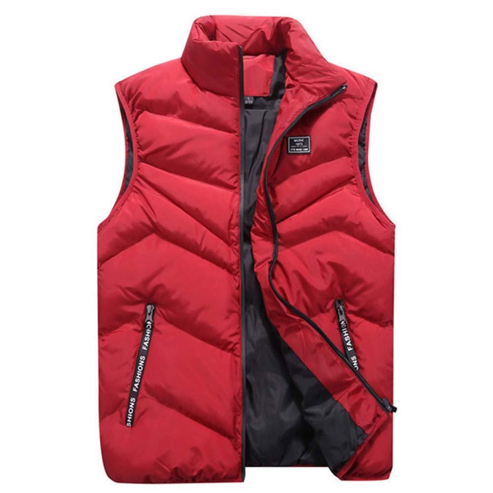 Btruely Weste Herren Groß Größe Jacke Winter Herbst Kapuzenmantel Männer Oberbekleidung Hoodies Outwear Vintage Mantel Warme Daunenmantel Mode Mantel