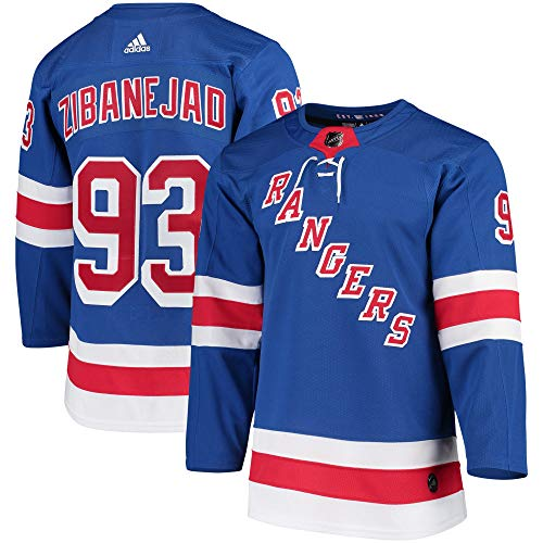 adidas Mika Zibanejad New York Rangers Authentic Home NHL Hockey Jersey (XL/54)