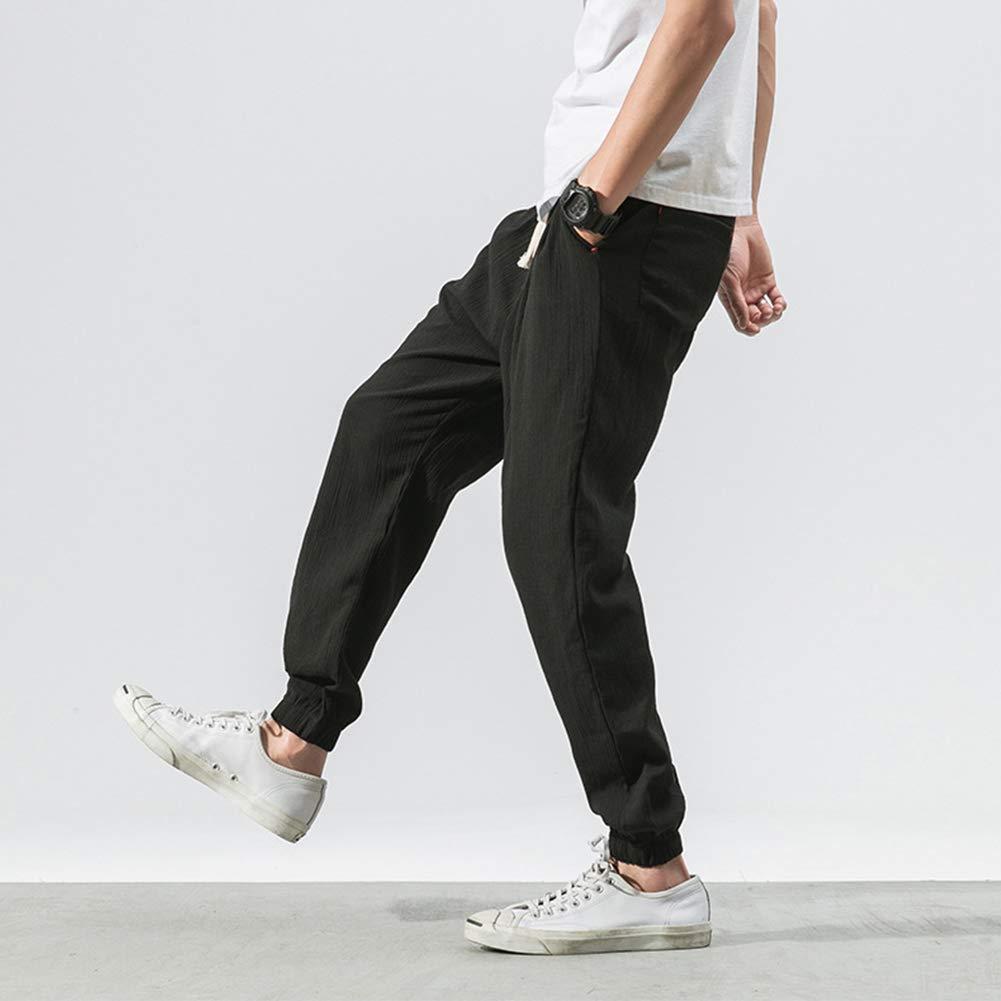 Drawstring Casual Trousers Man Pants Meijunter Mens Retro Style Lantern Pants