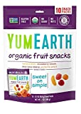 gummy bear cereal - YumEarth Organic Fruit Snacks, 10 Snack Packs Per Bag (Pack of 12)