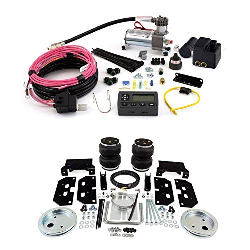 Air Lift 57295 72000 Rear Set of Load Lifter 5000 Series Air Springs with Wireless AIR Dual Path On-Board Air Compressor System Bundle for Dodge 2500 3500